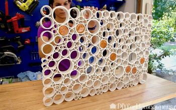 DIY PVC Pipe Indoor Art