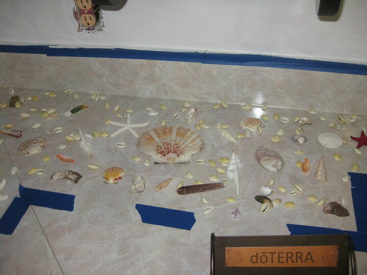 Shells placed on countertops