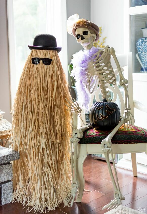 s 17 spooky halloween decor ideas that will scare your guests, Who invited Cousin Itt to the party