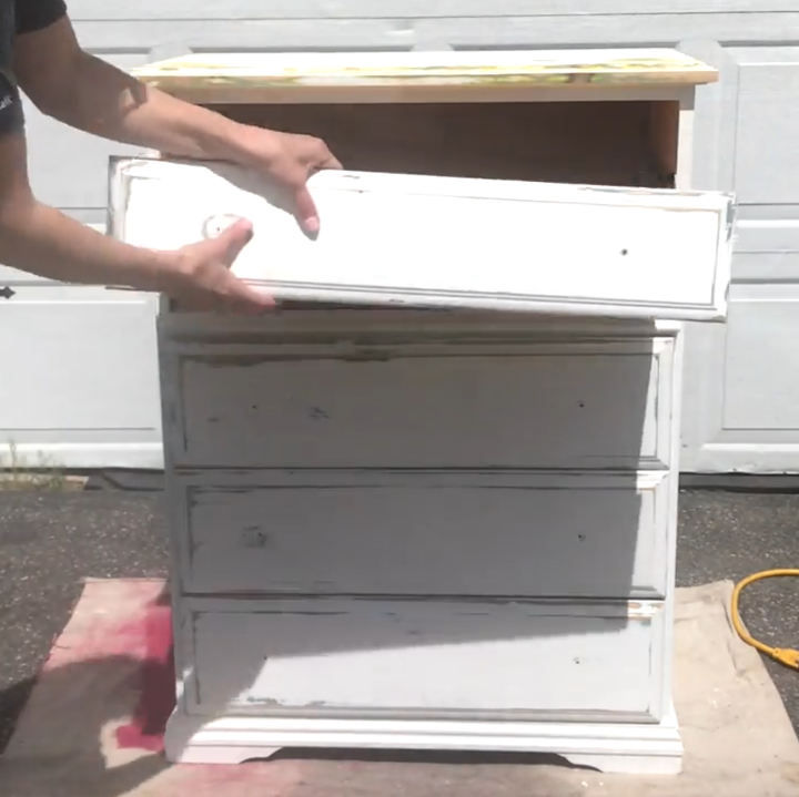 give your old dresser a dramatic transformation with this technique