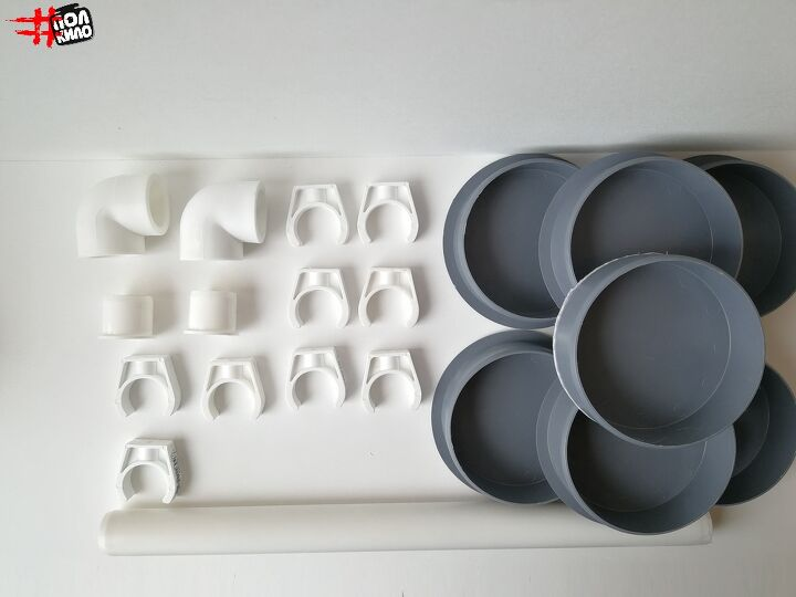 simple organizer of their pvc pipes