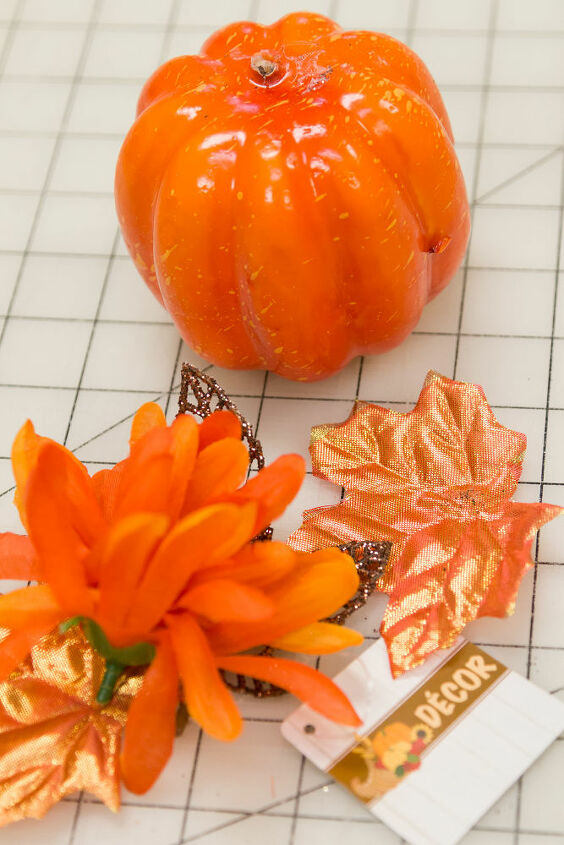 Removed the floral from the pumpkin