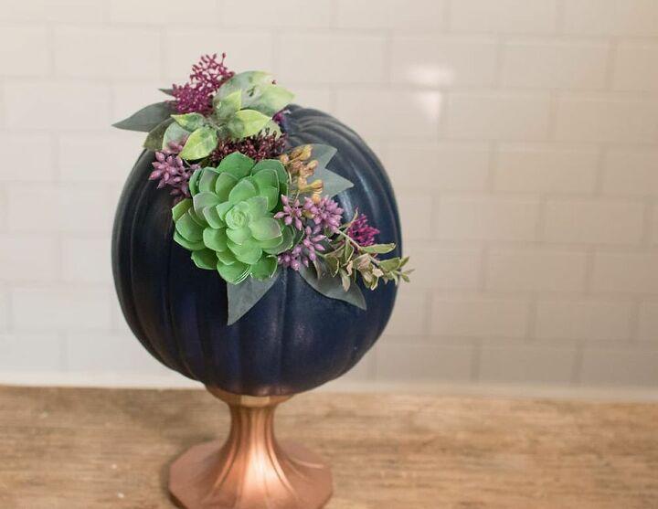 how to make pretty diy floral pumpkins
