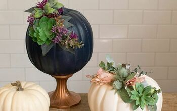 How To Make Pretty DIY Floral Pumpkins