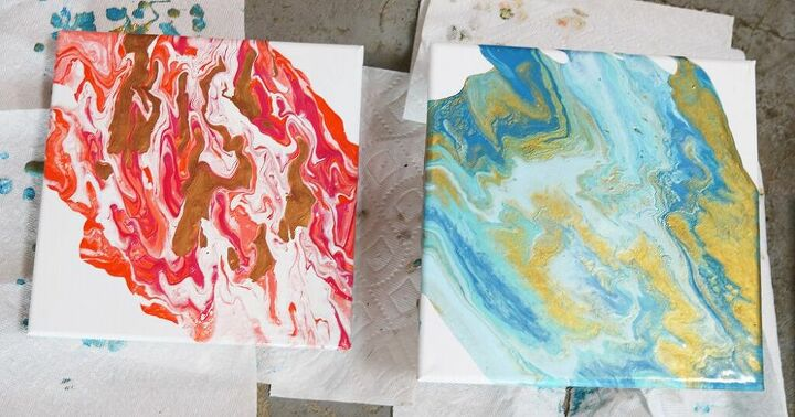 how to make beautiful diy paint pour art for your walls