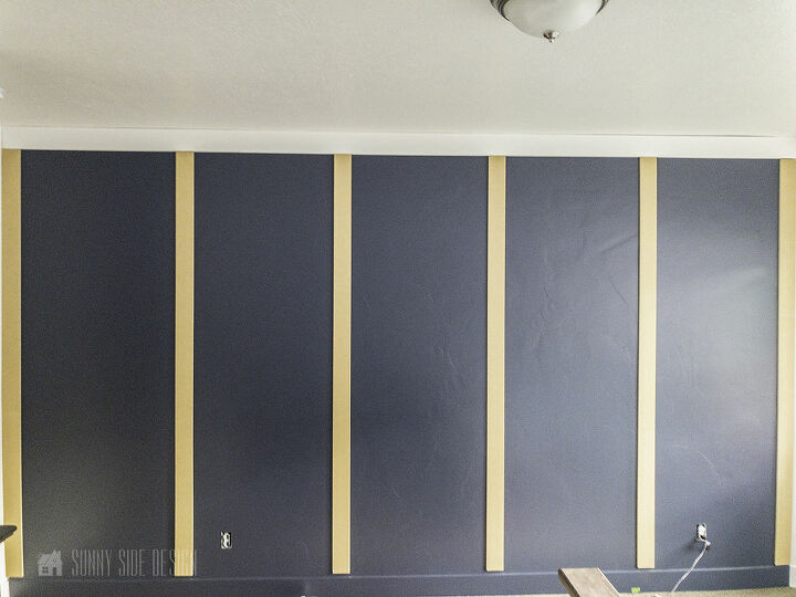 board and batten wall in an afternoon for less than 50