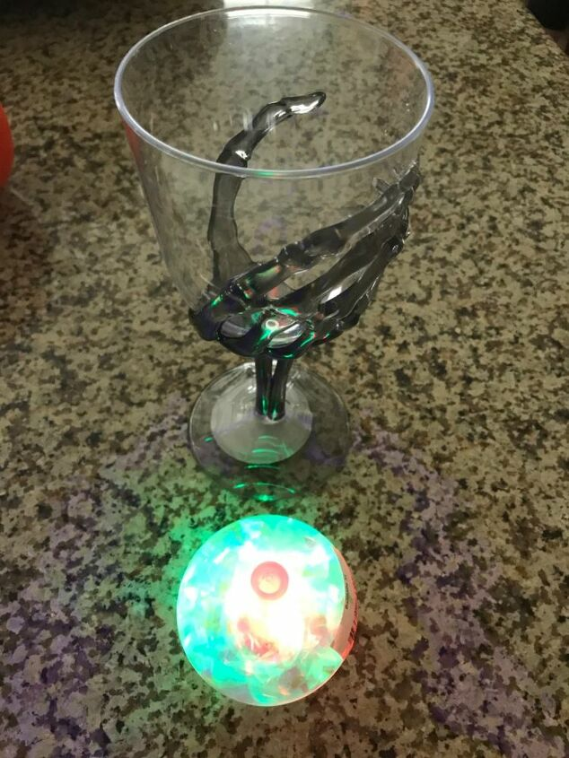 how to make a crystal ball from two dollar tree items