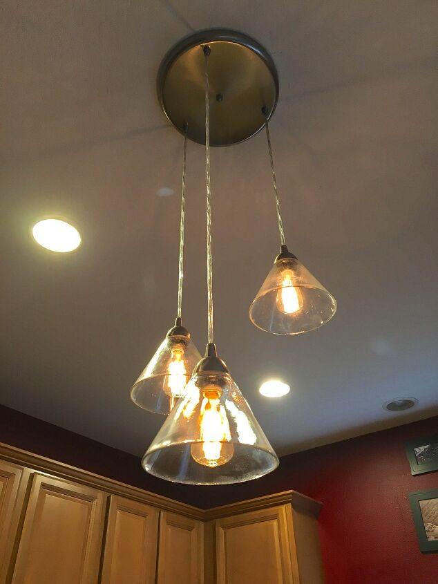 s kitchen lighting, 3 Glass Kitchen Pendant Lighting