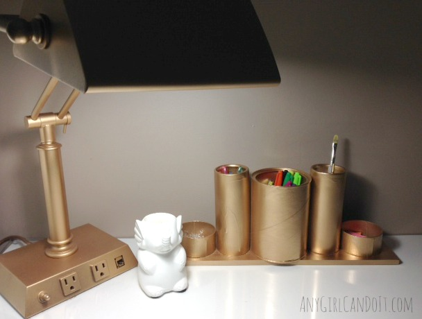 DIY desk top organizer
