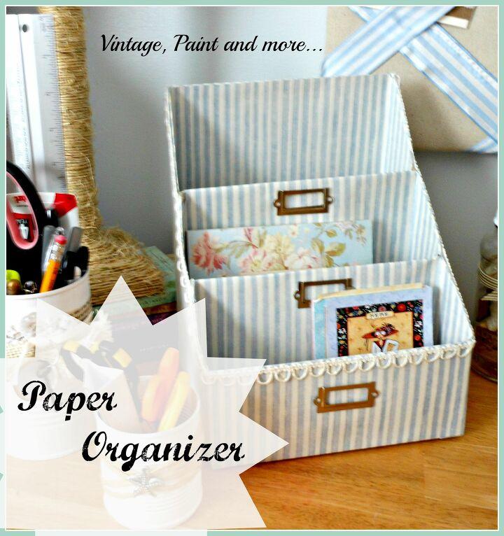 DIY desk paper organizer