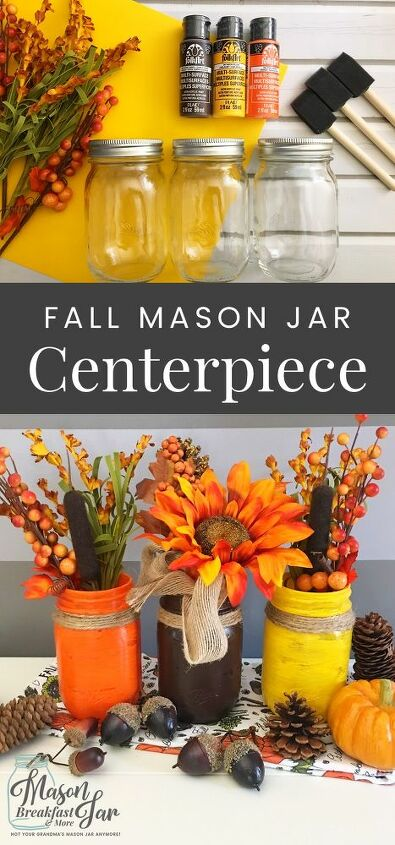 fall mason jar centerpiece