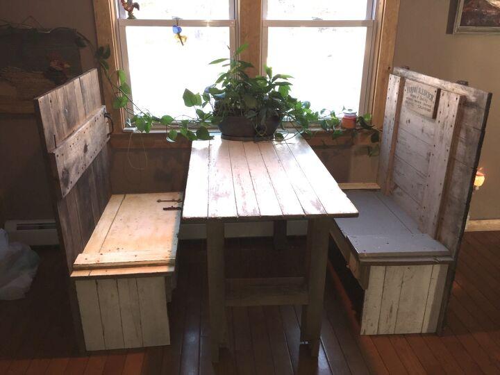 Rustic Breakfast Nook Table