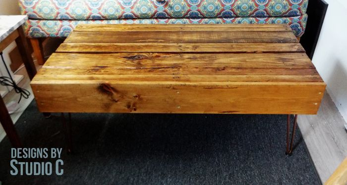 easy to build pallet coffee table