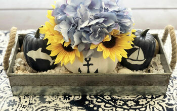 DIY Fall Coastal Floral Arrangement