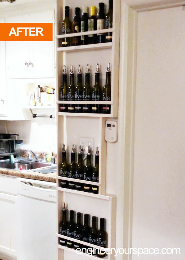 engineer your vertical space tiny kitchen diy shelf storage idea