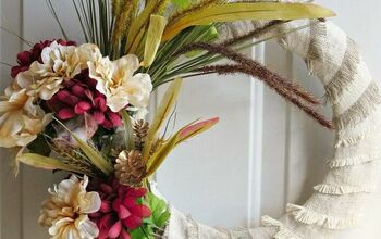How to Make an Easy Fringed Fall Wreath With Dollar Store Items.