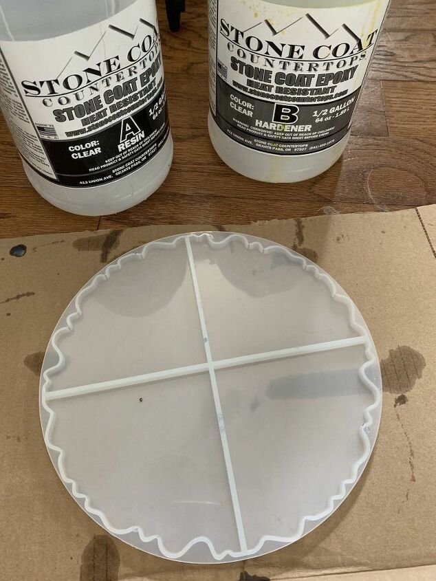 Geode coaster resin mold