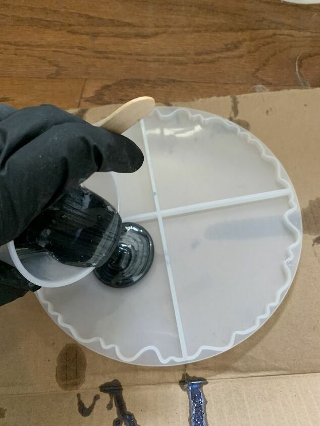 pouring resin