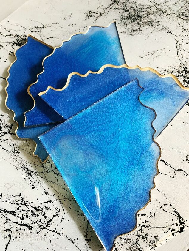 how to make your own resin geode coasters