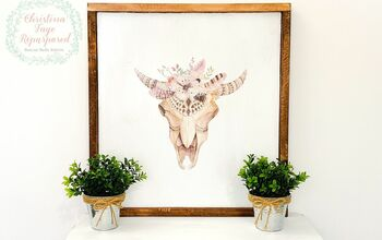 DIY Rustic Steer Sign From Old Shelving