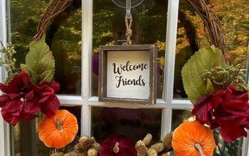 How to Make a Fall Wreath and a Fun Idea, Too!