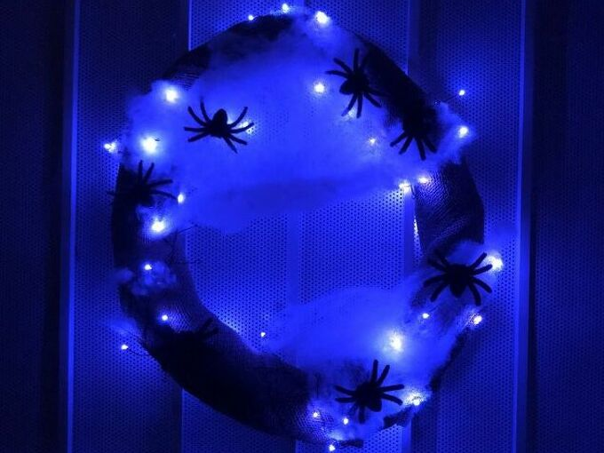 spooktacular fall wreath