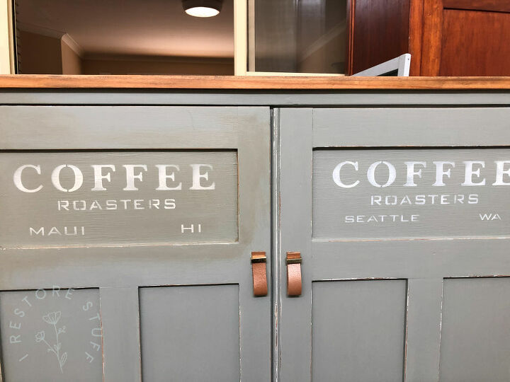 turn a sideboard into a coffee station