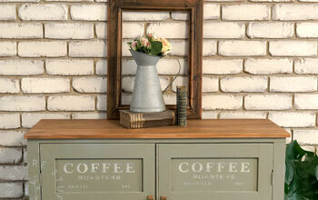Turn a Sideboard Into a Coffee Station!