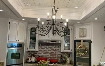 Kitchen Lighting Shiplap Makeover