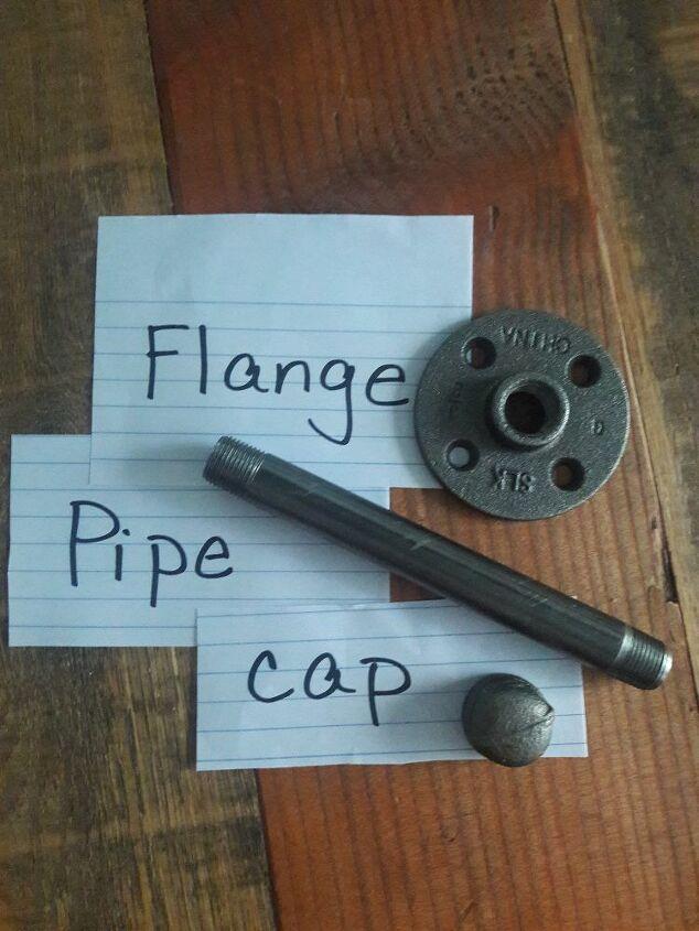 I used black plumbing pipe