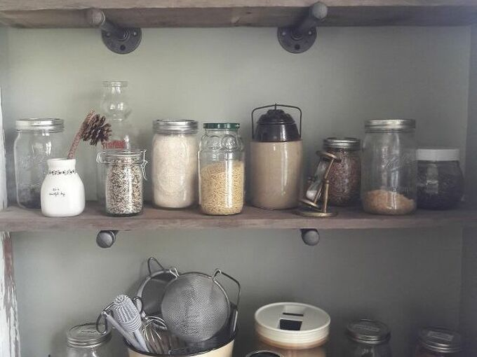 wall pantry storage solution, Close up of the pantry