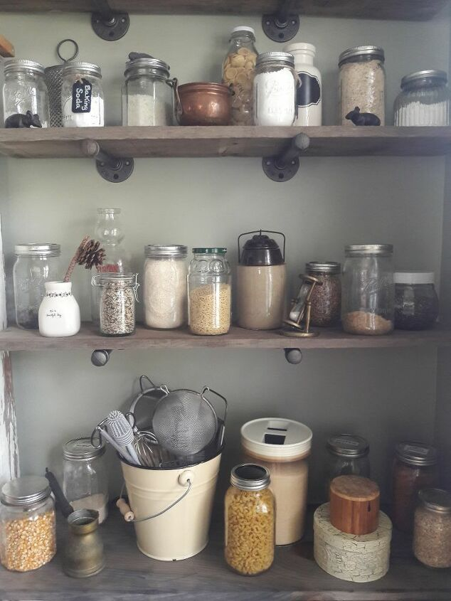 Close up of the pantry