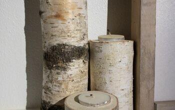 Birch Wood Tea Light Holders