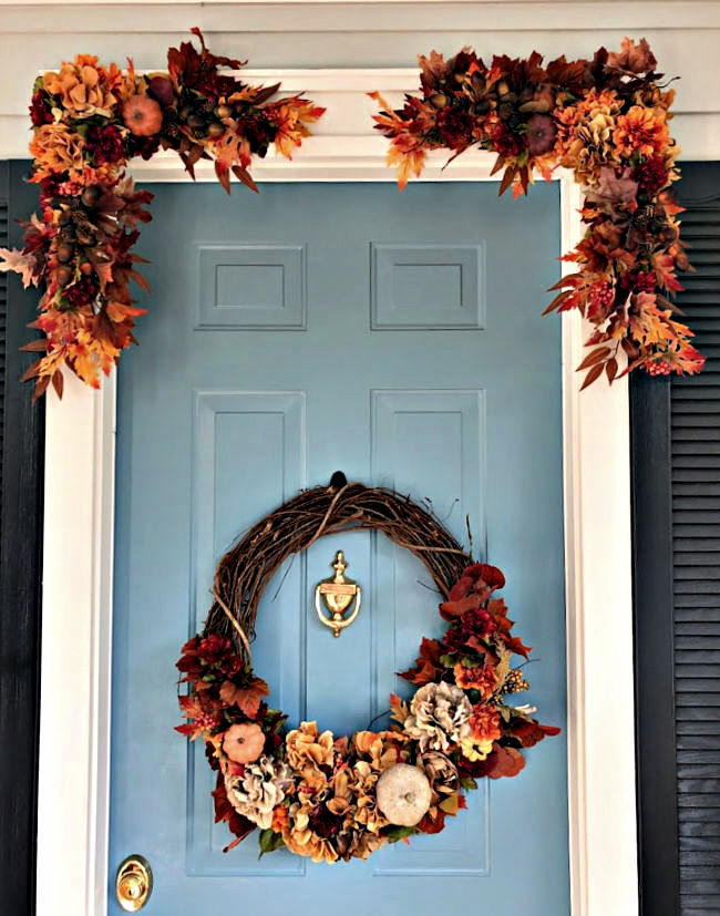 creative fall decoration for your front entry