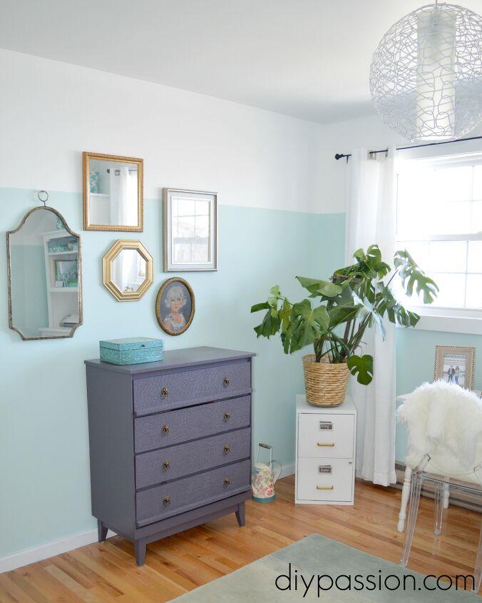 bright home office decor