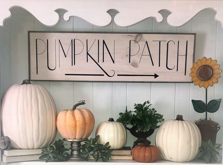 scrap wood sign for fall