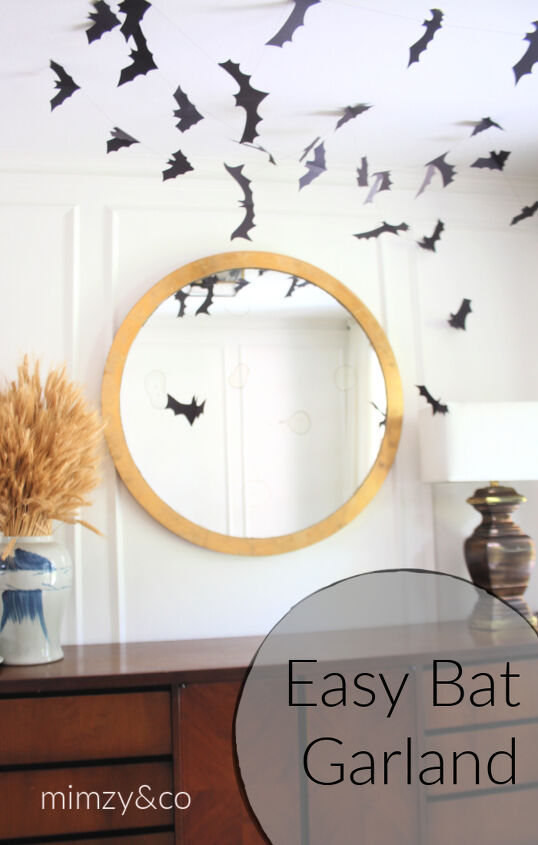 s 16 halloween decor ideas that ll be a huge hit at your party, DIY Bat garland Halloween decoration