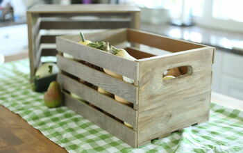 Farmhouse Wood Crates From Scrap Flooring