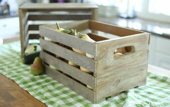 Farmhouse Wood Crates From Scrap Flooring