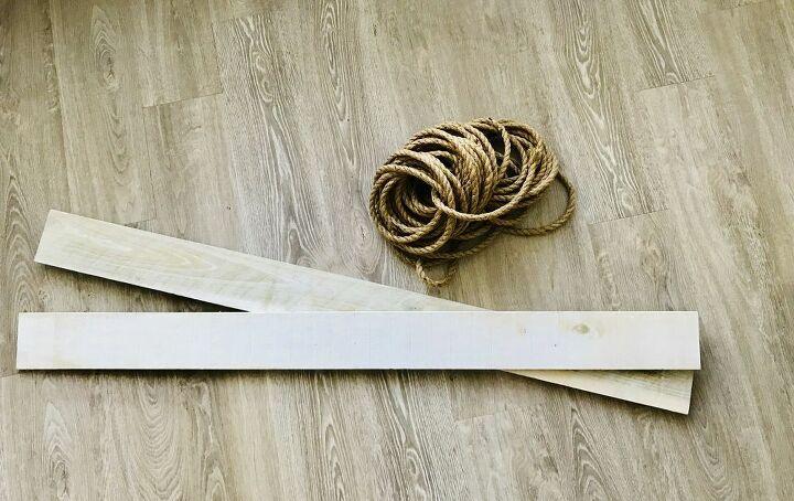 how to make a rope shelf dollhouse style