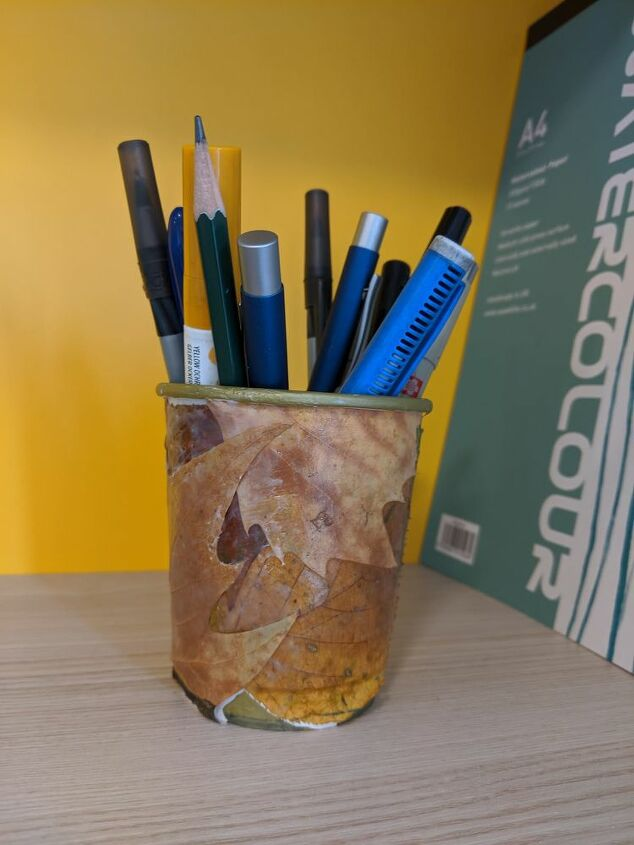 autumn homemade pen holder