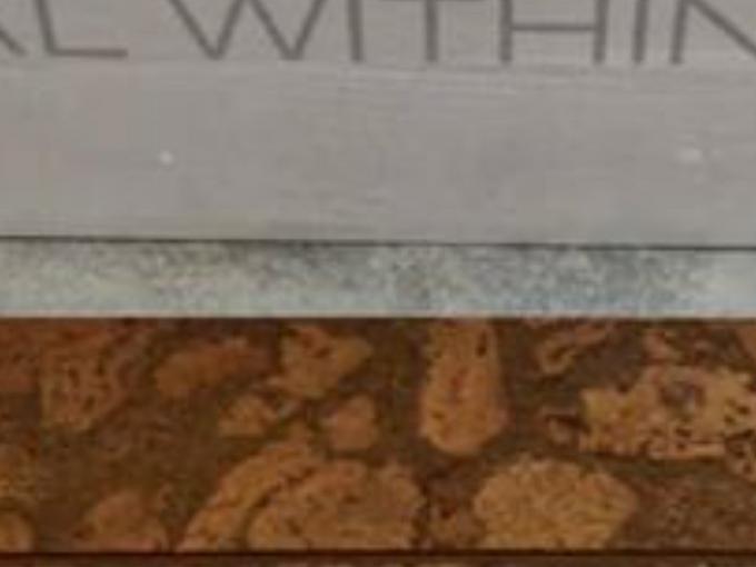 q cork flooring on accent wall