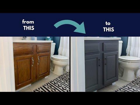 s bathroom cabinets, 1 Stylish Bathroom Storage Cabinet Paint Job