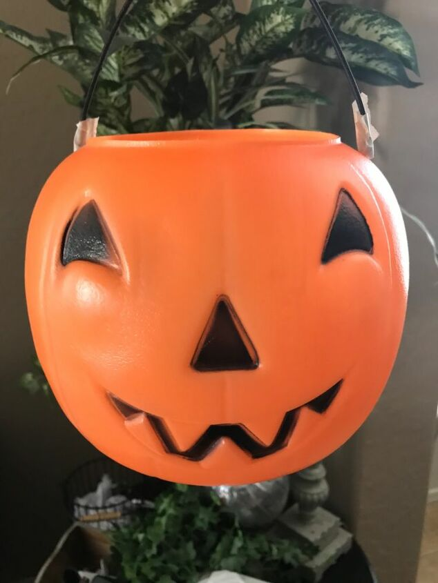 candy bucket pumpkin recycle