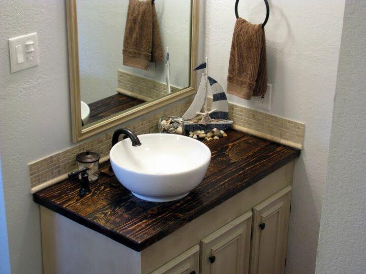 rustic bathroom vanity