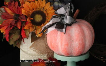 DIY Updating a Dollar Store Pumpkin to Farmhouse Style Decor
