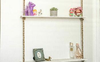 How to Make a Rope Shelf; Dollhouse Style