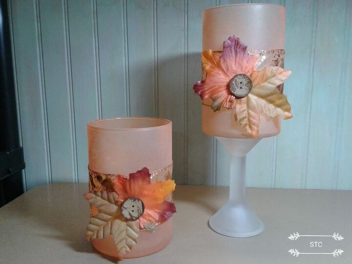 Frosted Fall Candle Holders