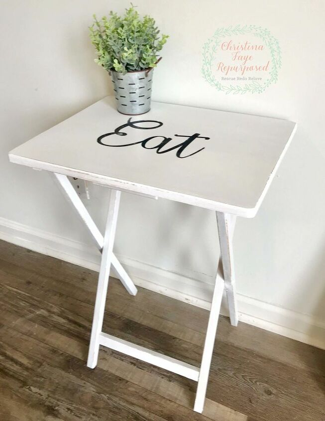 thrift store tv trays makeover