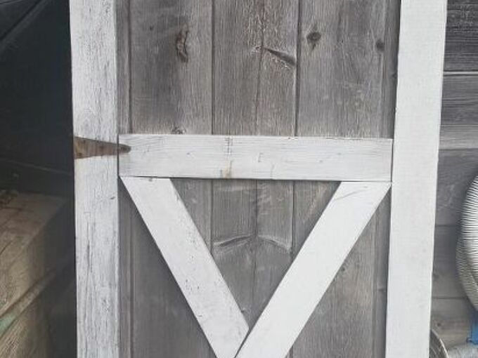 q any ideas on what i can do with this old shed door